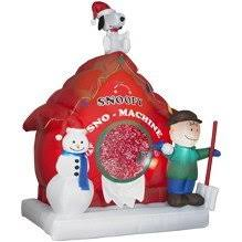 peanuts airblown inflatables new 6 peanuts snoopy sno machine snow airblown