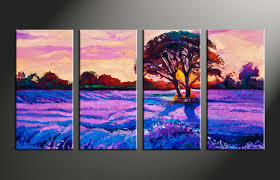 100 paintings for home decoration wall art photos paintings for home decoration 4 piece purple landscape tree oil paintings group canvas