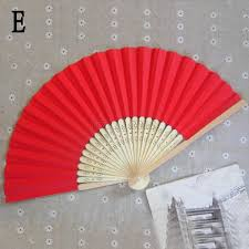 held paper fans retro pocket bamboo fan folding held paper fans