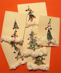 the chocolate muffin tree spin art christmas tree cards