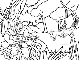 free printable deer hunting coloring pages coloring pages ideas