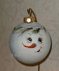 joyce s tole painting snowman ornaments
