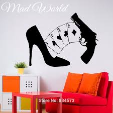 popular ace decals buy cheap ace decals lots from china ace decals mad world shoes aces gun poker sexy woman wall art stickers decal home diy decoration