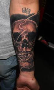skull forearm tattoo dice http tattootodesign com skull