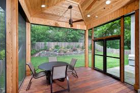 Screened In Patios Fixed Screens Versus Retractable Screens For A Screened Porch