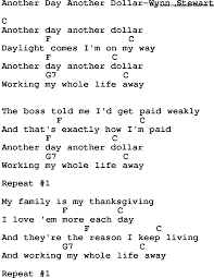 thanksgiving day song lyrics country music another day another dollar wynn stewart lyrics and