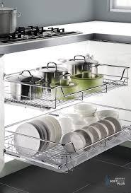2017 new item fashion kitchen base unit storage pull out basket