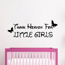 butterfly wall decals quote thank heaven for little girls vinyl butterfly wall decals quote thank heaven for little girls vinyl decal sticker interior design art mural kids baby nursery room decor kg829
