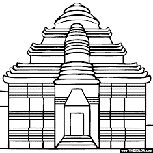 temple coloring page konark sun temple india coloring page
