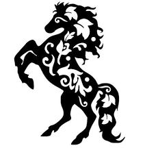 vintage horse stencil template stencils pinterest stencil