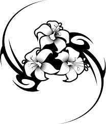 coloring pictures of hibiscus flowers working sheet of a hibiscus flower tattoo tribal design coloring