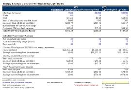 led light consumption calculator light bulb led light bulb savings calculator best life span wattage