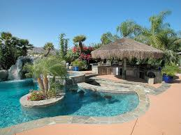 backyard designs with pool and outdoor kitchen pictures u2013 home