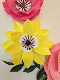 Wall Flower Decor by Paper Flowers Paper Flower Wall Decor Baby Nursery Room