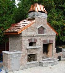 Pizza Oven Fireplace Combo by Brick Garden Outdoor Fireplace With Grill And Smoker My Dream