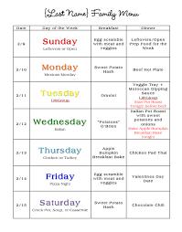 the b family weekly menu bluebonnet acres
