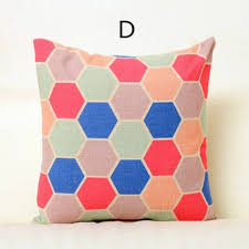 pink geometric throw pillows for couch creative triangle design