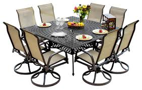 outdoor round outdoor dining set 8 seater metal garden furniture