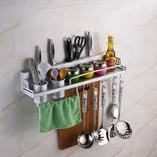crochet ustensile cuisine nouveau portable en aluminium cuisine étagère rack ustensile de