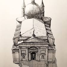 architecture in pen u0026 ink markpoulierart instagram photos and