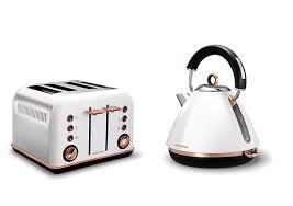 White Kettles And Toasters Morphy Richards Rose Gold White Pyramid Kettle U0026 Toaster Set Nab