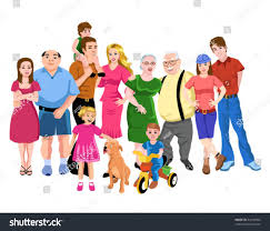 big family stock vector 24126964