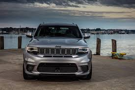 gray jeep grand cherokee 2018 jeep grand cherokee trackhawk first drive review automobile