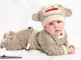 sock monkey costume sock monkey costume for a baby photo 2 2