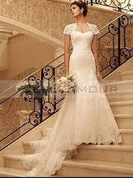 robe blanche mariage de mariée chic dentelle blanche longue a ligne dos nu