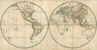Eastern World Map by Western Hemisphere Eastern Hemisphere David Rumsey Historical