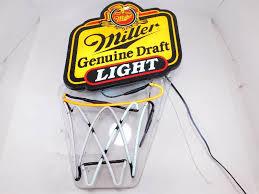 miller genuine draft light miller genuine draft light basketball light auction 21 tools