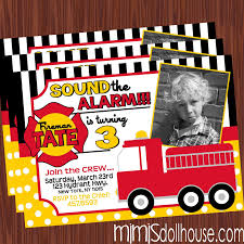 fire truck invitations fireman party printable collection mimi u0027s dollhouse