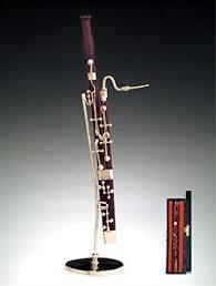 bassoon w stand miniature musical