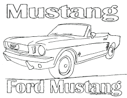 mustang coloring pages printable cars race car pictures mustang