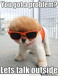 Dog With Glasses Meme - scary dog by kastytuxx meme center