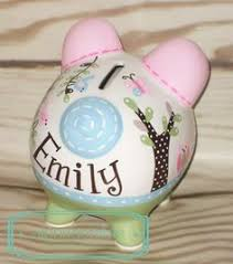 Customized Piggy Bank Custom Hand Painted Ceramic Personalized Piggy Bank M2m Pottery
