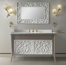 Shabby Chic Bathroom Cabinet With Mirror by Bathroom Cabinets Antique Chic Distressed Vintage Mirrored