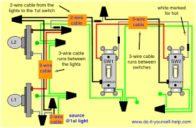 how to wire a light with two switches switch diagram 3 light wiring