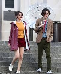 selena gomez dons mini skirt for filming woody allen movie daily