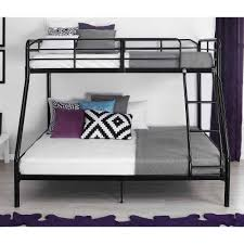 Mainstays Twin Over Full Metal Bunk Bed Black Walmartcom - Full and twin bunk bed