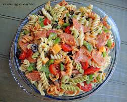 cooking creation italian pasta salad with pepperoni u0026 red wine