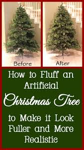 how to fluff an artificial tree into the correct shape