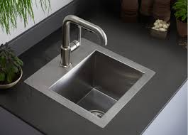 Drop In Stainless Steel Sink Faucet Com K 3840 1 Na In Stainless Steel By Kohler