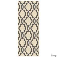 fancy moroccan trellis non slip runner rug rubber backed 26