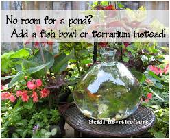 heidi horticulture fish bowl in the garden
