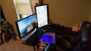 long gaming desk show us your gaming setup 2017 edition page 15 neogaf