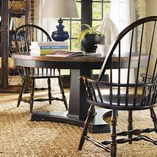 Oak Table With Windsor Back Chairs Hooker Furniture Sanctuary 5 Piece Ebony U0026 Copper 60 In Dining