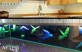 led backsplash cost led kitchen backsplash parrots custom glass led kitchen led kitchen