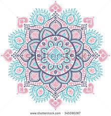 beautiful vector snowflake mandala ornament stock