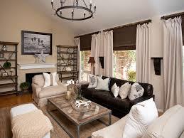 striped rug wood beam ceiling beams brown living room furniture